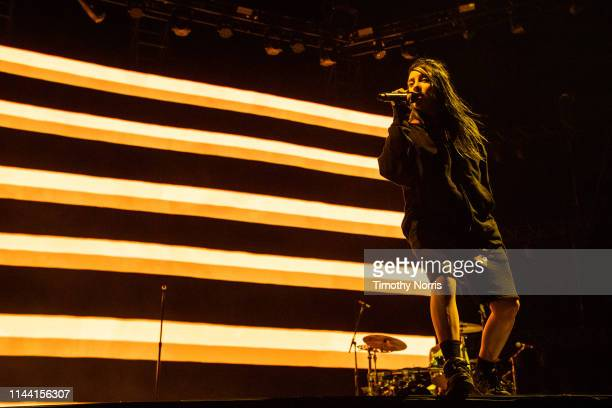 Billie Eilish performs during 2019 Coachella Valley Music And Arts Festival on April 20 2019 in Indio California