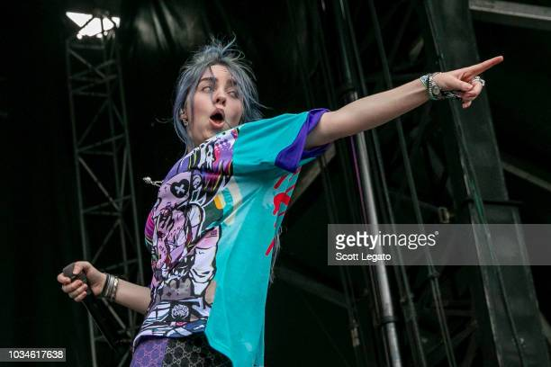 Billie Eilish performs during Day 2 of Music Midtown Festival at Piedmont Park on September 16 2018 in Atlanta Georgia