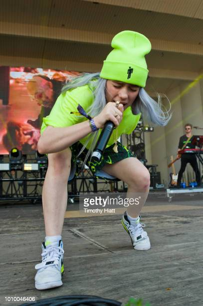 Billie Eilish performs on day one of Lollapalooza at Grant Park on August 2 2018 in Chicago Illinois