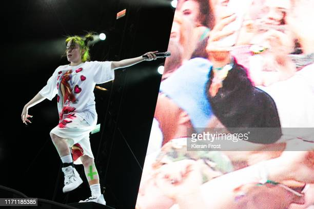 Billie Eilish performs on stage during Electric Picnic Music Festival 2019 at Stradbally Hall Estate on August 30, 2019 in Stradbally, Ireland.