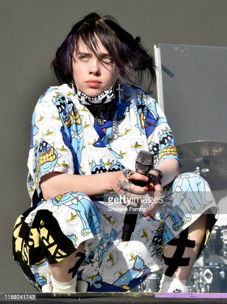 Billie Eilish performs on The Other Stage during day five of Glastonbury Festival at Worthy Farm, Pilton on June 30, 2019 in Glastonbury, England.