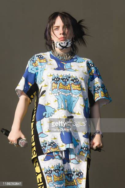 Billie Eilish performs on The Other Stage during day five of Glastonbury Festival at Worthy Farm Pilton on June 30 2019 in Glastonbury England