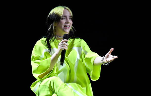 """Billie Eilish performs onstage at Spotify Hosts """"Best New Artist"""" Party at The Lot Studios on January 23, 2020 in Los Angeles, California."""