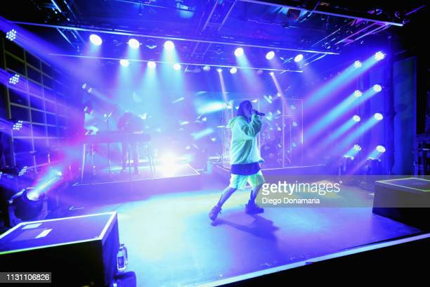 Billie Eilish performs onstage at Uber Event during the 2019 SXSW Conference and Festivals at Austin Convention Center on March 16, 2019 in Austin,...