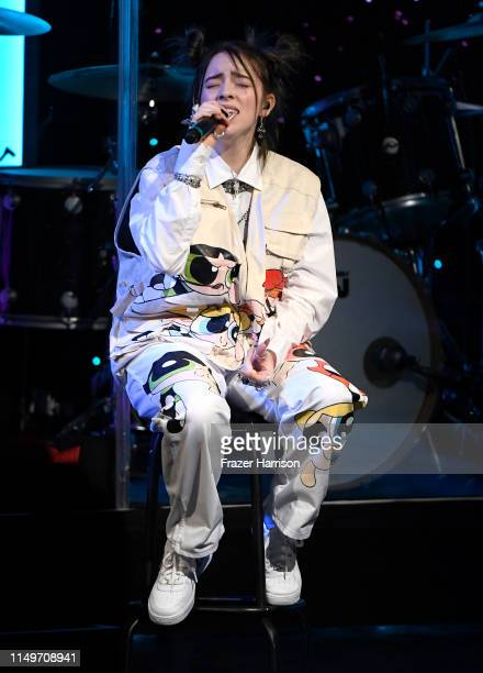 Billie Eilish performs onstage during the 36th annual ASCAP Pop Music Awards at The Beverly Hilton Hotel on May 16 2019 in Beverly Hills California