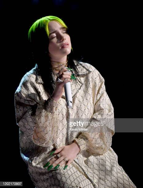 Billie Eilish performs onstage during the 62nd Annual GRAMMY Awards at STAPLES Center on January 26 2020 in Los Angeles California