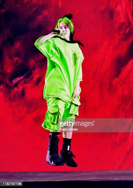 Billie Eilish performs onstage during the 7th Annual We Can Survive presented by ATT a RADIOCOM event at The Hollywood Bowl on October 19 2019 in Los...