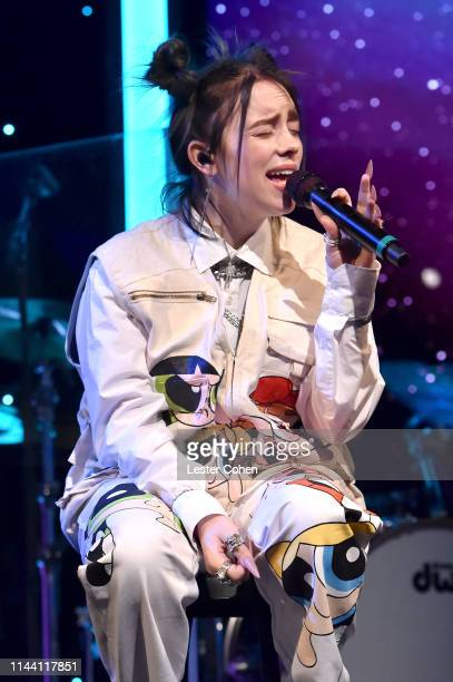 Billie Eilish performs onstage during the ASCAP 2019 Pop Music Awards at The Beverly Hilton Hotel on May 16 2019 in Beverly Hills California
