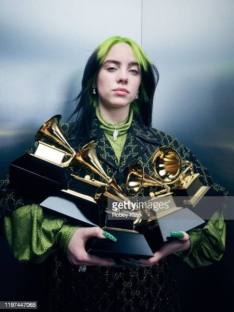 Billie Eilish poses for a portrait during the 62nd Annual GRAMMY Awards on January 26 2020 in Los Angeles California