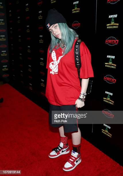 Billie Eilish speaks during an interview at KROQ Absolut Almost Acoustic Christmas at The Forum on December 9 2018 in Inglewood California