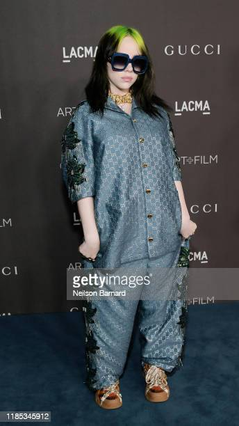 Billie Eilish, wearing Gucci, attends the 2019 LACMA Art + Film Gala Presented By Gucci at LACMA on November 02, 2019 in Los Angeles, California.
