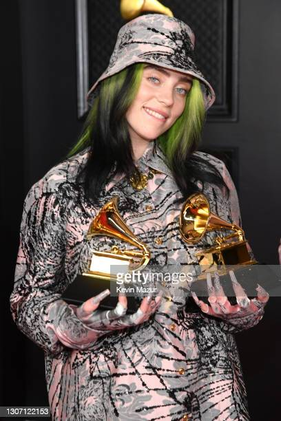 Billie Eilish, winner of the Record of the Year award for 'Everything I Wanted' and the Best Song Written for Visual Media award for 'No Time to...
