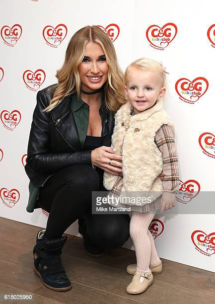 Billie Faiers and daughter Nellie attend the CG baby club 'The Happy Song' Launch Event at Ham Yard Hotel on October 16 2016 in London England