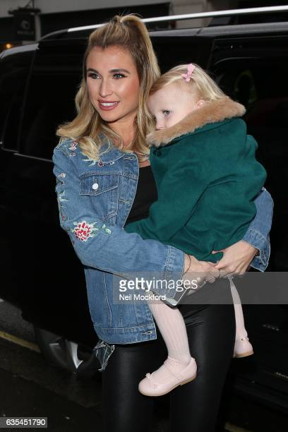 Billie Faiers and her daughter Nelly attends the Disney on Ice The Mouse Bounce Launch Party on February 15 2017 in London England