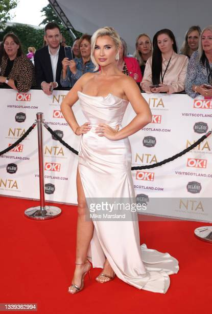 Billie Faiers attends the National Television Awards 2021 at The O2 Arena on September 09, 2021 in London, England.