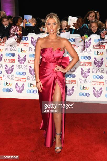 Billie Faiers attends the Pride of Britain Awards 2018 at The Grosvenor House Hotel on October 29 2018 in London England