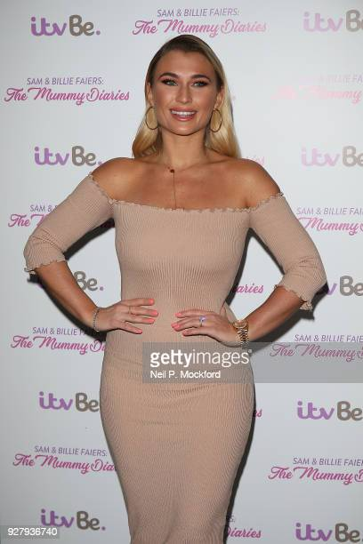 Billie Faiers poses for ITV's 'The Mummy Diaries' photocall at Park Plaza Westminster Bridge Hotel on March 6 2018 in London England