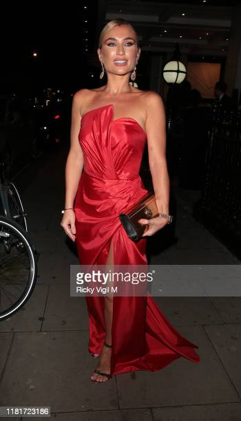 Billie Faiers seen attending Haven House Ball at De Vere Grand Connaught Rooms on October 17 2019 in London England