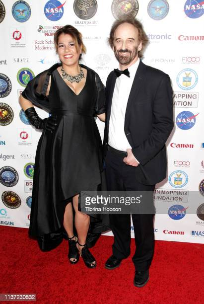 Billie Feldman and Dr Clark Elliott attend the 16th annual 'Gathering for Cure' black tie awards gala of Brain Mapping Foundation on March 16 2019 in...