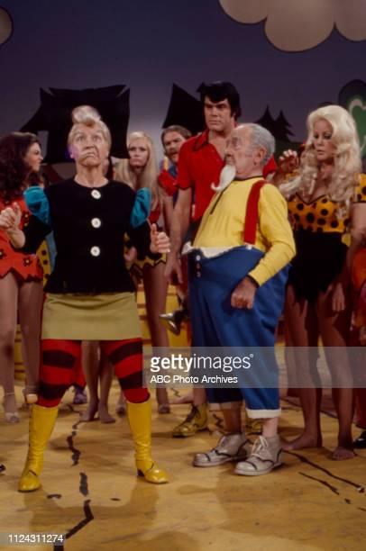 Billie Hayes Ray Young Billy Betcher Nancee Parkinson appearing in the Walt Disney Television via Getty Images tv movie 'Li'l Abner'