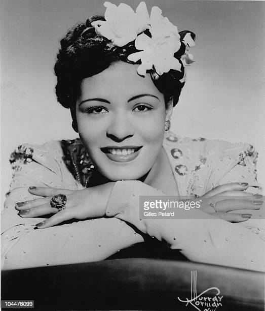 Billie Holiday poses for a studio portrait in 1939 in the United States