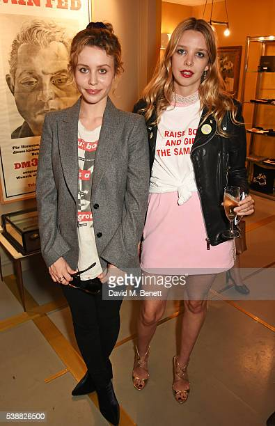 Billie JD Porter and Greta Bellamacina attend the launch of Bella Freud's numbered edition collection of sunglasses with Cutler Gross at her Chiltern...