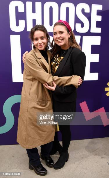 Billie JD Porter and Josie Naughton attend Choose Love Launches In Los Angeles On Giving Tuesday on December 3, 2019 in Los Angeles, California.