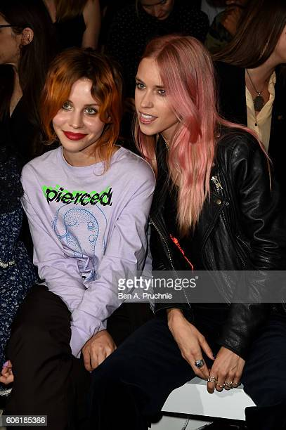 Billie JD Porter and Mary Charteris attend the Ashley Williams show during London Fashion Week Spring/Summer collections 2017 on September 16 2016 in...