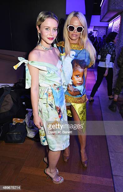 Billie JD Porter and Pamela Anderson attend the launch of the Cool Earth Goes Global initiative hosted by Dame Vivienne Westwood and Andreas...