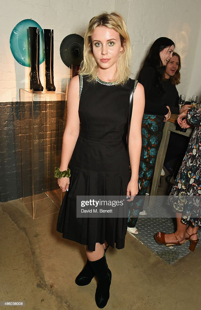 Billie JD Porter attends as Iconic British fashion label RED OR DEAD and London based NEWGEN design talent Ashley Williams celebrate the launch of the second phase of their exclusive Ashley Williams x RED OR DEAD footwear collaboration at Lights Of Soho on September 2, 2015 in London, England.