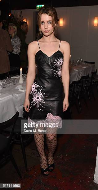 Billie JD Porter attends Ffrench Pharmaceuticals Presents Culinary Cosmetics on March 23 2016 in London England