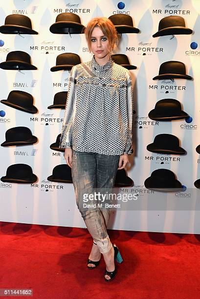 Billie JD Porter attends Mr Porter's fifth birthday celebration at The Savile Club on February 20 2016 in London England