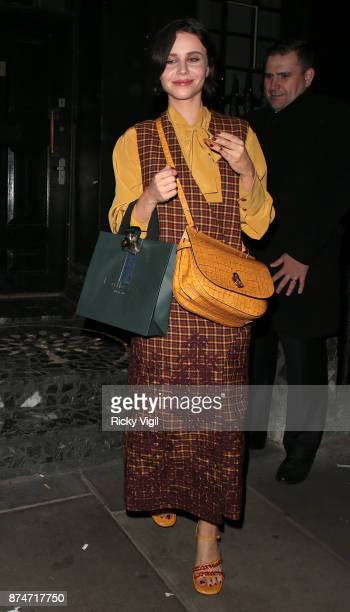 Billie JD Porter attends Mulberry's 'It's Not Quite Christmas' party on November 15 2017 in London England