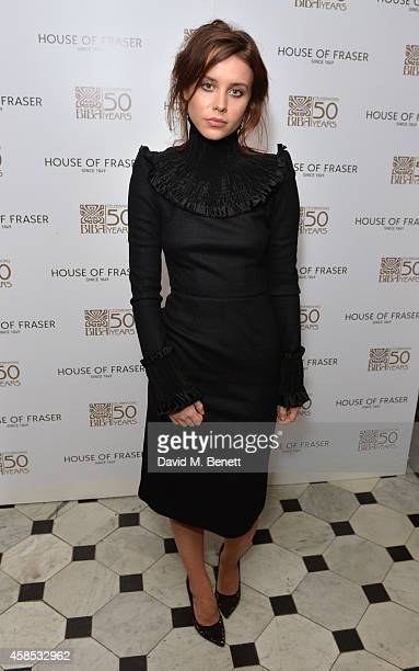 Billie JD Porter attends the BIBA 50 Year Anniversary Dinner with Barbara Hulanicki at The London Edition Hotel on November 6 2014 in London England