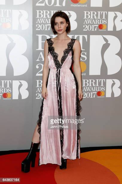 Billie JD Porter attends The BRIT Awards 2017 at The O2 Arena on February 22 2017 in London England