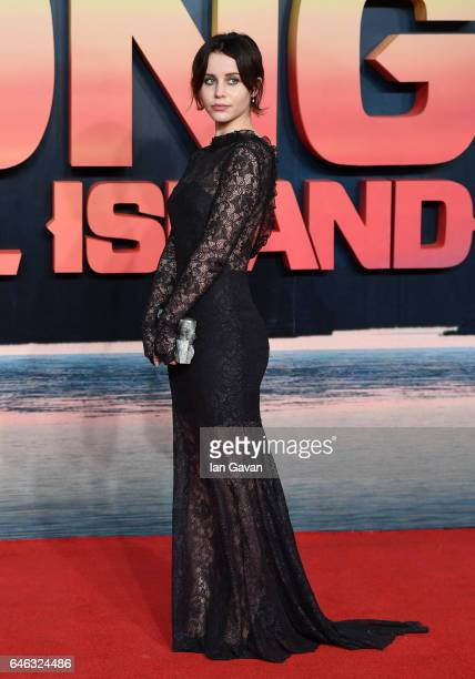 Billie JD Porter attends the European premiere of Kong Skull Island at the Cineworld Empire Leicester Square on February 28 2017 in London United...