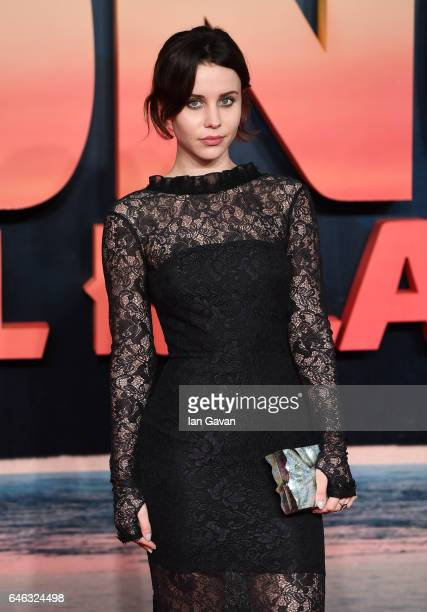 """Billie JD Porter attends the European premiere of """"Kong: Skull Island"""" at the Cineworld Empire Leicester Square on February 28, 2017 in London,..."""