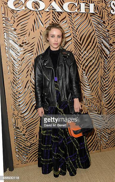 Billie JD Porter attends the launch of Coach at Selfridges hosted by Stuart Vevers at Selfridges on September 18 2015 in London England