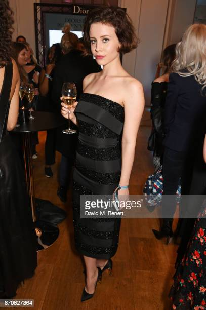 Billie JD Porter attends the launch of the Dior Pump 'N' Volume Mascara with Dior spokesmodel Bella Hadid at Selfridges on April 20 2017 in London...