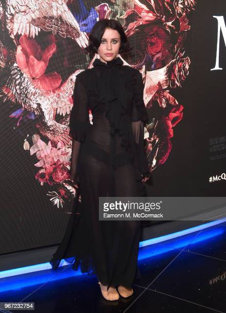 Billie JD Porter attends the 'McQueen' UK premiere at Cineworld Leicester Square on June 4, 2018 in London, England.