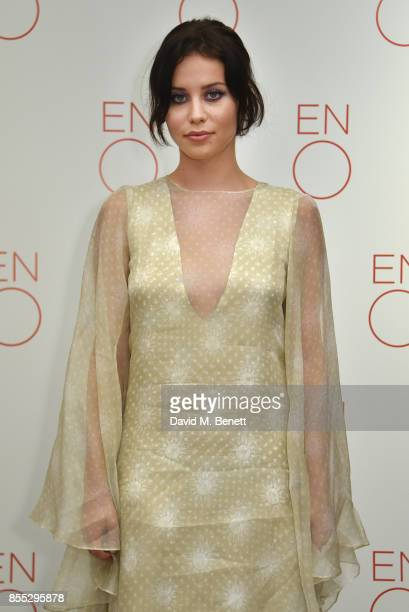 Billie JD Porter attends the press night of Aida opening the English National Opera's new season at The London Coliseum on September 28 2017 in...