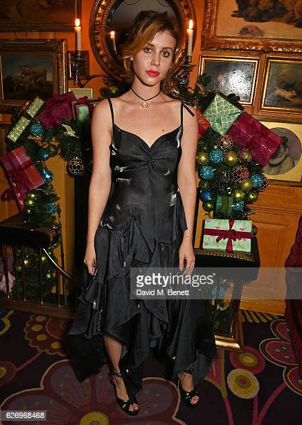 Billie JD Porter attends the Sunday Times Style Christmas Party at Annabel's on November 30 2016 in London England