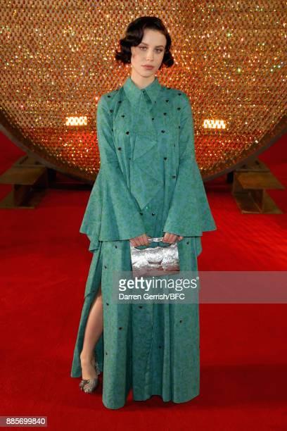 Billie JD Porter attends the Swarovski Prolouge at The Fashion Awards 2017 in partnership with Swarovski at Royal Albert Hall on December 4 2017 in...
