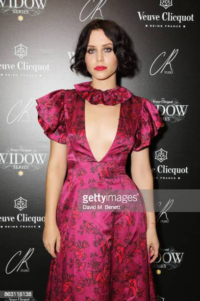 Billie JD Porter attends The Veuve Clicquot Widow Series By Carine Roitfeld And CR Studio on October 19 2017 in London England