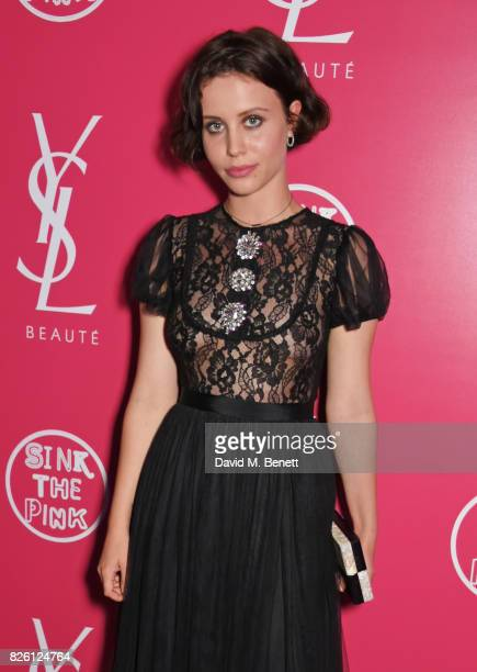 Billie JD Porter attends the #YSLBeautyClub party in collaboration with Sink The Pink at The Curtain on August 3 2017 in London England