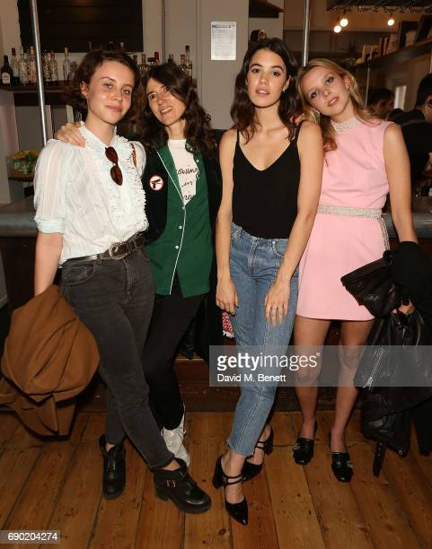Billie JD Porter Bella Freud Gala Gordon and Greta Bellamacina attend a play reading of 'Building The Wall' by Robert Schenkkan presented by Platform...