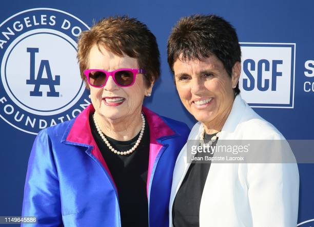 Billie Jean King and Ilana Kloss attend the 5th Annual Blue Diamond Foundation at Dodger Stadium on June 12 2019 in Los Angeles California