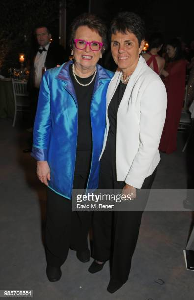 Billie Jean King and Ilana Kloss attend the Argento Ball for the Elton John AIDS Foundation in association with BVLGARI Bob and Tamar Manoukian on...