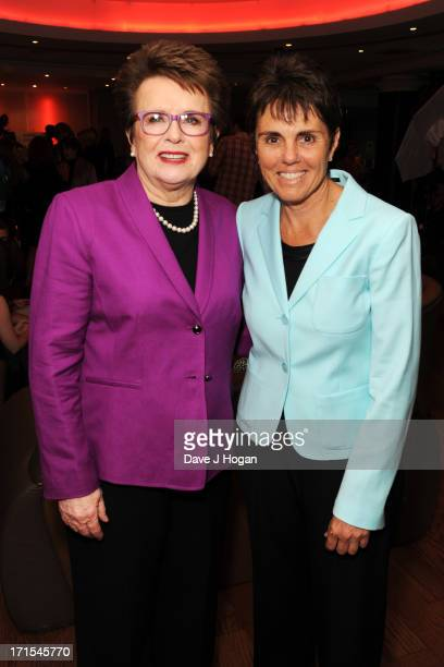 Billie Jean King and Ilana Kloss attend the UK premiere of 'Battle Of The Sexes' at The Vue Leicester Square on June 26 2013 in London England