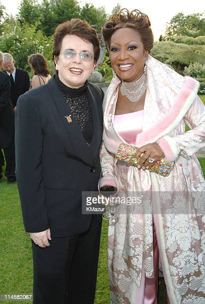 Billie Jean King and Patti Labelle during The 7th Annual White Tie and Tiara Ball to Benefit the Elton John Aids Foundation in Association with...